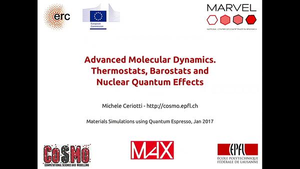 Slideshot: Watching Michele Ceriotti / Advanced Molecular Dynamics